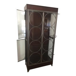 Ethan Allen Modern Art Deco Display Cabinet For Sale