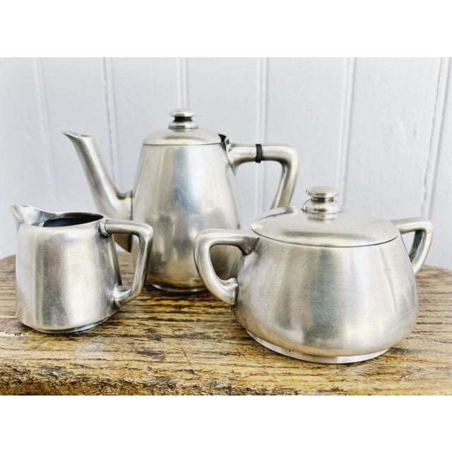 1910s Antique Silver Plated Childs Tea Set From Hotel Lutetia Paris For Sale - Image 5 of 13