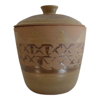 Lidded Pottery Canister