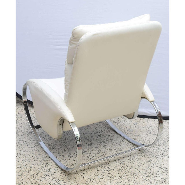 Milo Baughman Style Chrome Rocking Chair, Usa, 1970s For Sale In Miami - Image 6 of 10