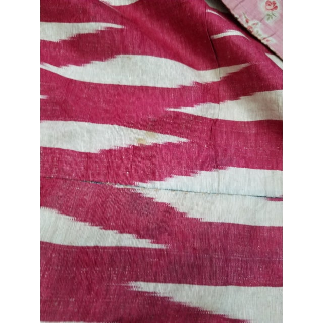 Late 19th Century 19th Century Vintage Turkish Ikat Textile For Sale - Image 5 of 12