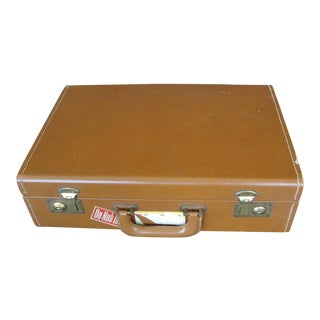 "Vintage 17"" Brown Leather Briefcase"