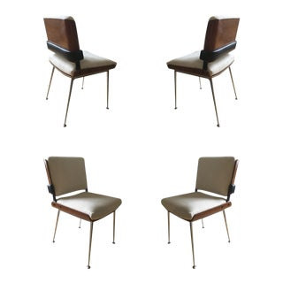 Alain Richard 1960's Set of 4 Chairs Fully Restored Dining Chairs For Sale