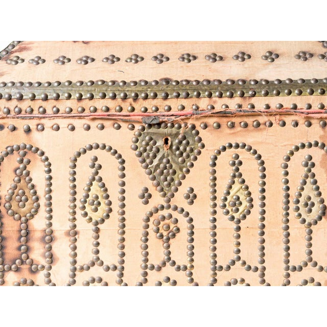 19th Century Spanish Upholstered Trunk For Sale - Image 4 of 6