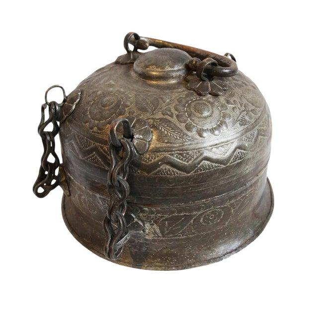 Antique Copper Chapati Box For Sale