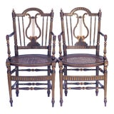 Image of 19th C. French Arm Chairs - a Pair For Sale