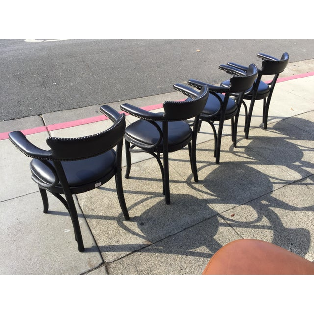 Mid-Century Modern 4 Restortation Hardware Dining Chairs Vienna Cafe For Sale - Image 3 of 6