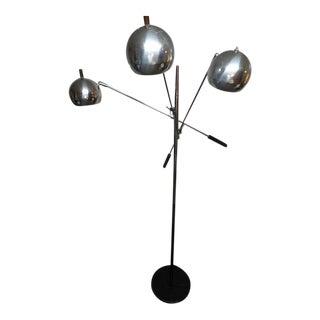 1960s Mid-Century Modern Robert Sonneman Chrome Triennale Atomic Orbiter Floor Lamp