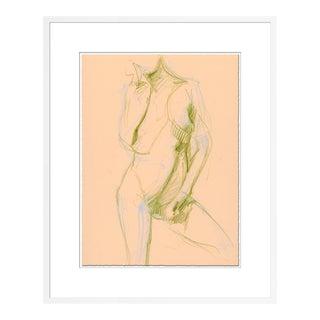 Figure 1 by David Orrin Smith in White Frame, Medium Art Print For Sale