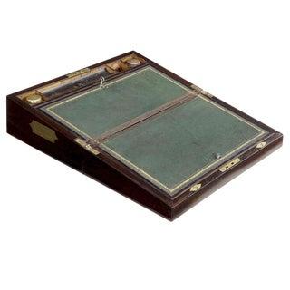 English Regency Rosewood Writing Slope Box, England C. 1830 For Sale
