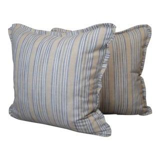 Pindler Throw Pillows in Miranda Linen Print - a Pair For Sale