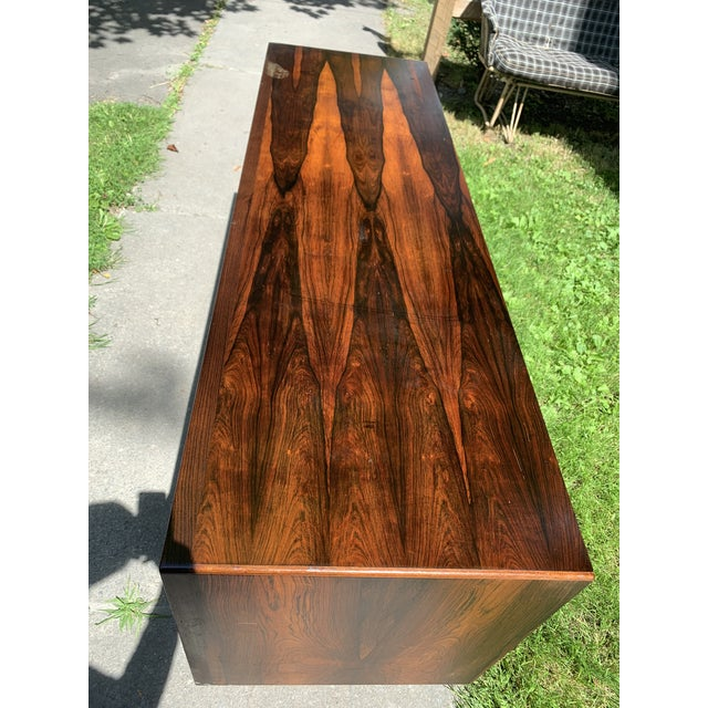Mid-Century Svend Madsen for Falster Compact Rosewood Credenza For Sale - Image 9 of 13