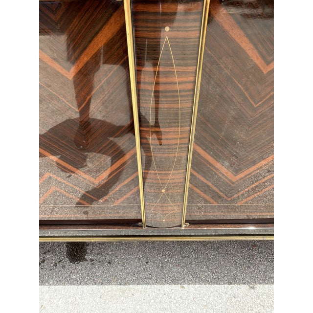 """1940s 1940s French Art Deco Exotic Macassar Ebony """"Zigzag"""" Buffet/Sideboard For Sale - Image 5 of 13"""