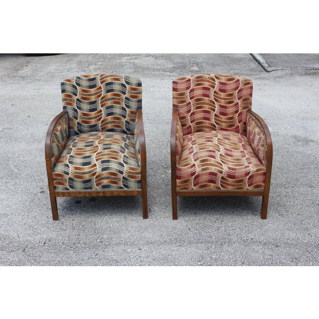 French Art Deco Sold Mahogany Speed Armchairs - A Pair - Image 11 of 11