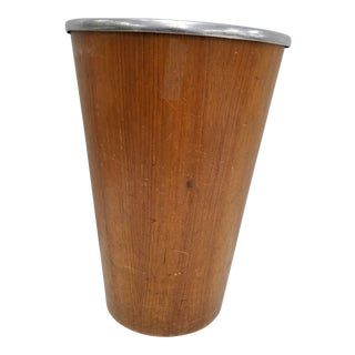 Martin Aberg Servex Rainbow Wood Waste Basket For Sale