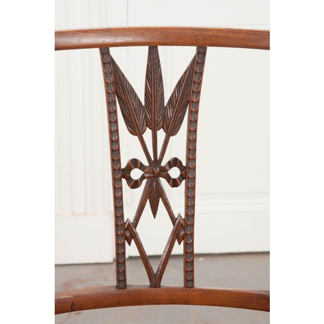 French 19th Century Louis XVI Style Rush-Seat Armchair For Sale In Baton Rouge - Image 6 of 9