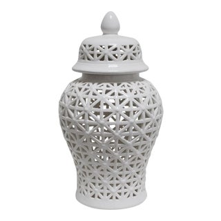 Pierced Ceramic Ginger Jar