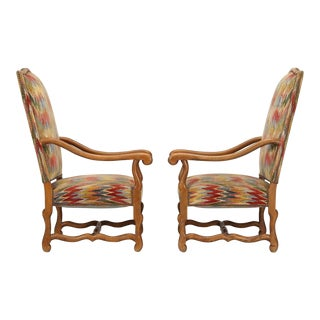 French Os De Mouton Style Armchairs - A Pair For Sale