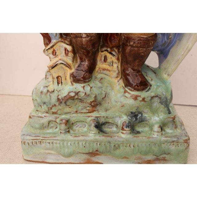 Austrian Secessionist Terracotta Figure Signed For Sale - Image 4 of 11
