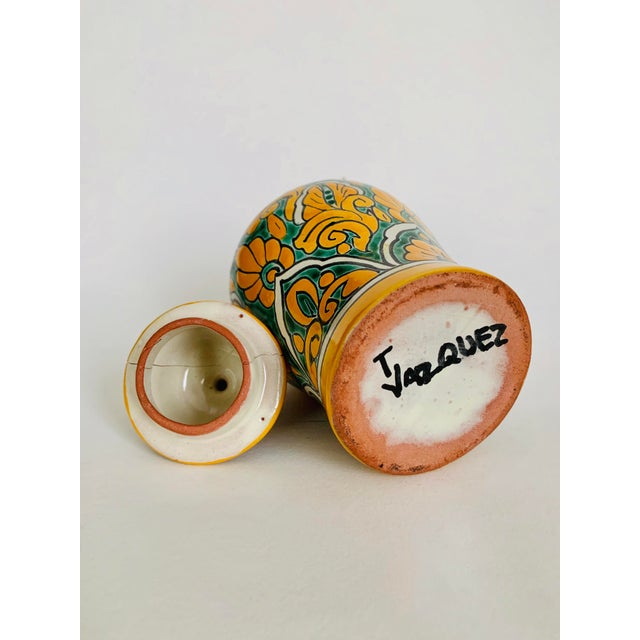 Rustic Mexican Talavera Pottery Ginger Jar For Sale - Image 3 of 6