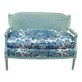 Image of French Cane Back Settee For Sale