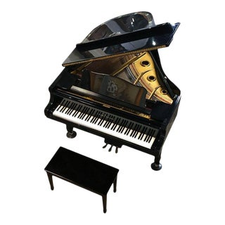 Young Chang Baby Grand Piano With Decorative Peacock Mother of Pearl Inlay For Sale