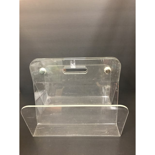1960s Minimalist Lucite Magazine Holder For Sale - Image 4 of 9