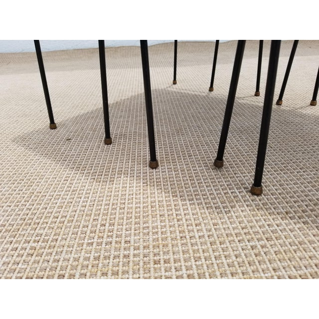 Mathieu Mategot Style Nesting Tables - Set of 3 For Sale In Miami - Image 6 of 12