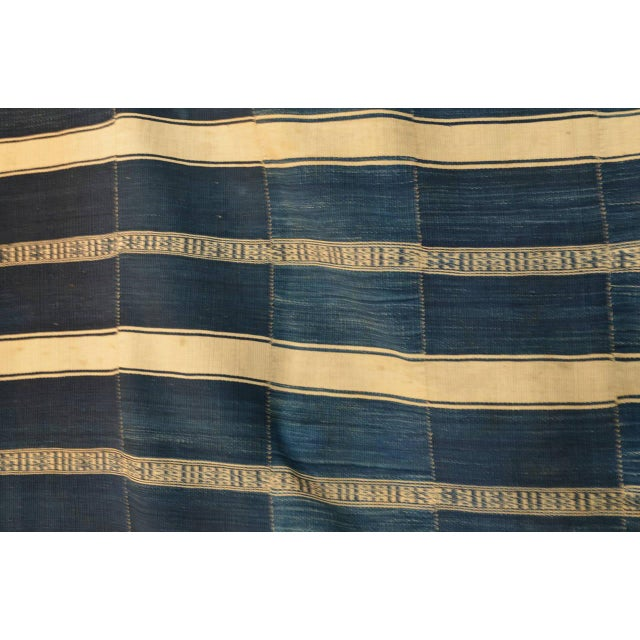 Museum Quality West African Indigo Textile. From Dahomey (Benin), Circa 1925. The same piece is in the permanent...