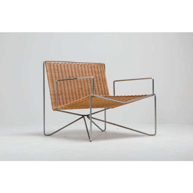 Wicker Rattan and Steel Armchairs Gelderland, 1964 - a Pair For Sale - Image 7 of 13