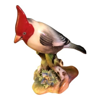 Vintage Bone China Red Crested Cardinal Figure For Sale