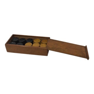 Antique French Backgammon Pieces For Sale