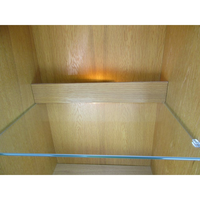 Teak Teak Lighted Hutch or Cabinet by Christian Linneberg -Denmark For Sale - Image 7 of 11