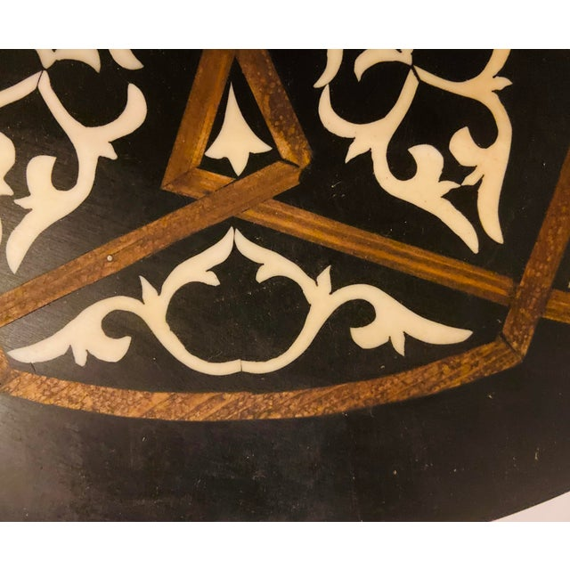 Metal Moroccan Brass Side Table For Sale - Image 7 of 13