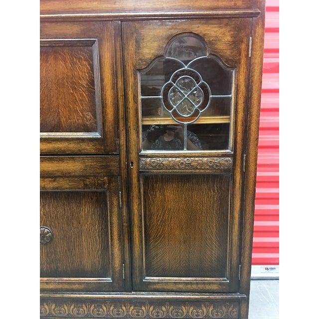 Antique Carved Wood Secretary Desk - Image 8 of 11