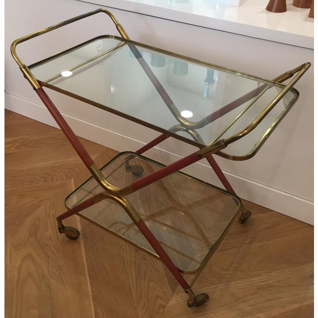 1950s 1950s Italian Cesare Lacca Bar Cart Server For Sale - Image 5 of 11