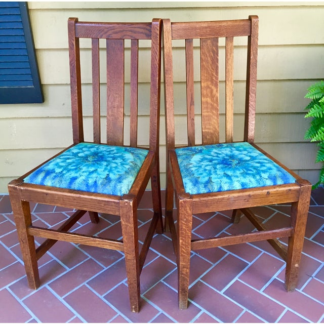 Mission Dining Chairs - A Pair - Image 3 of 10