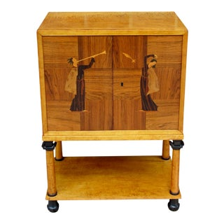 Swedish Art Deco Biedermeier Revival Cabinet Circa 1920 For Sale