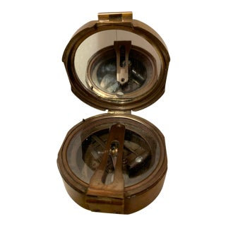 1940s This Solid Brass Compass For Sale