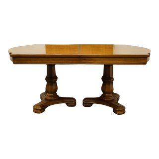 Thomasville Furniture Decorum Collection Double Pedestal Dining Table For Sale