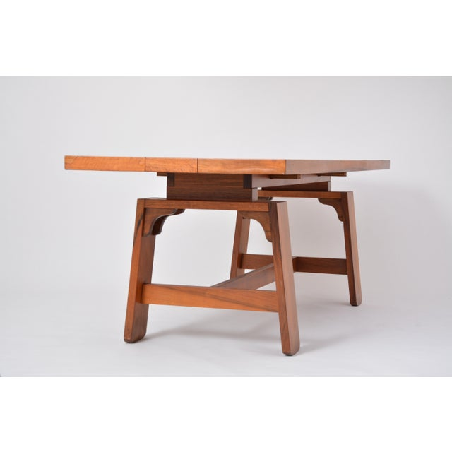 Large Dining Table in Walnut Veneer by Silvio Coppola, Bernini, Italy, 1964 For Sale - Image 6 of 12