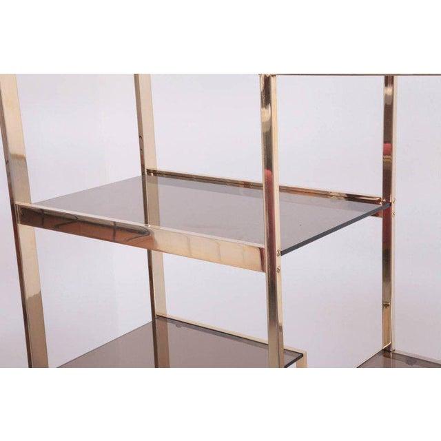 Large Romeo Rega Brass Shelf or Etagere For Sale - Image 6 of 7