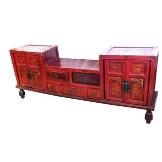 Antique Red/Gold Lacquer wood Chest