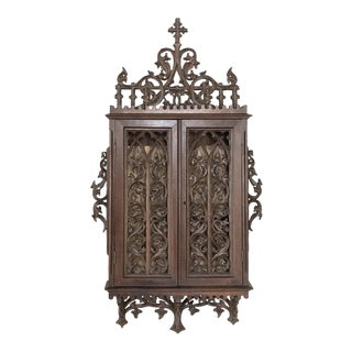 19th Century French Gothic Reliquary Cabinet For Sale