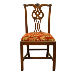 Late 20th Century Link Taylor / Young Hinkle Solid Cherry English Chippendale Style Side Chair For Sale