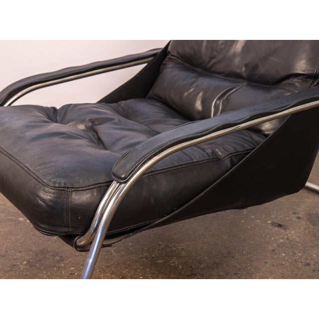 Silver Maggiolina Lounge Chair and Ottoman by Marco Zanuso For Sale - Image 8 of 13