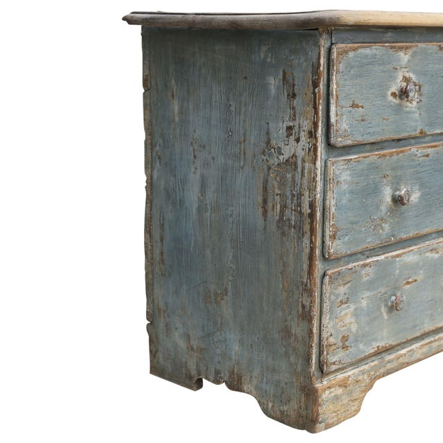 19th Century Painted Three-Drawer Commode For Sale - Image 4 of 11