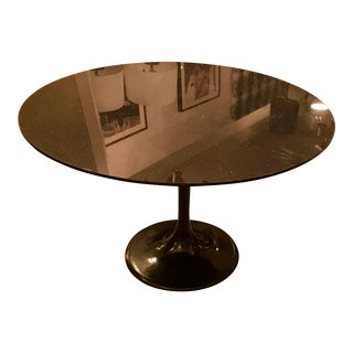 "Saarinen 47"" Tulip Dining Table, W/ Granite Stone Top, Vintage For Sale"
