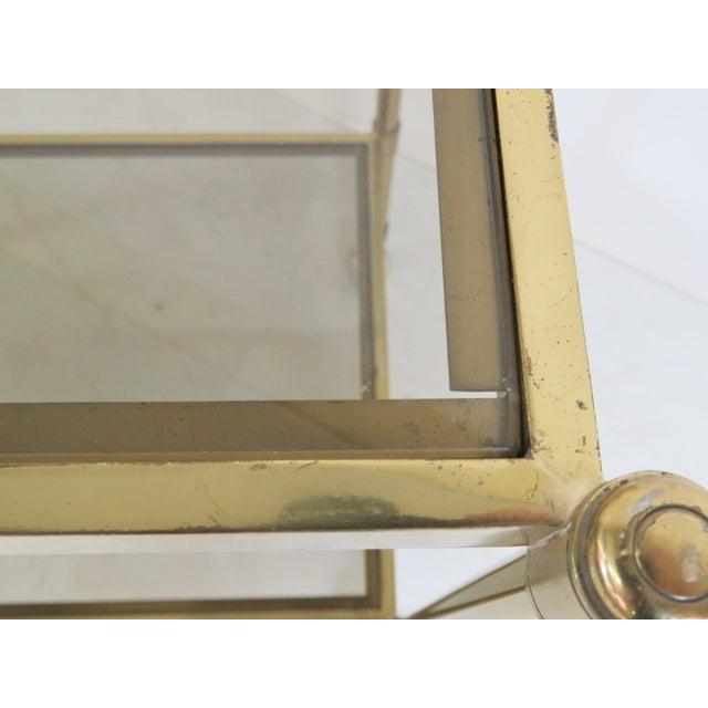 Mid-Century Modern Brass & Glass Bar Cart - Image 4 of 5