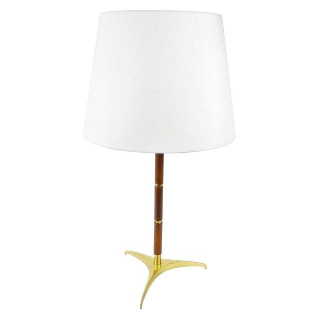 J.T. Kalmar Tripod Table Lamp attributed to J. T. Kalmar For Sale - Image 4 of 4